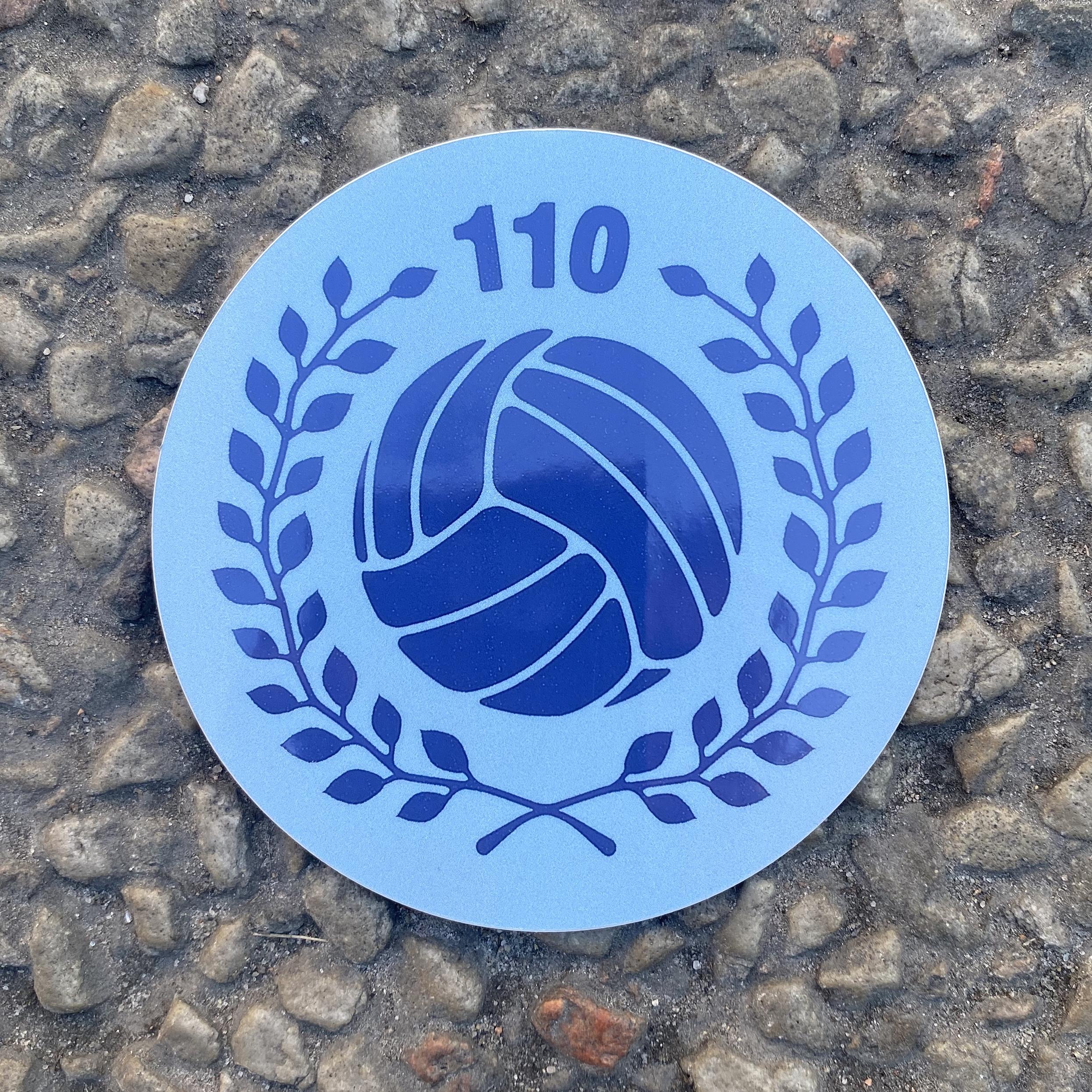 Klistermärke - 110år