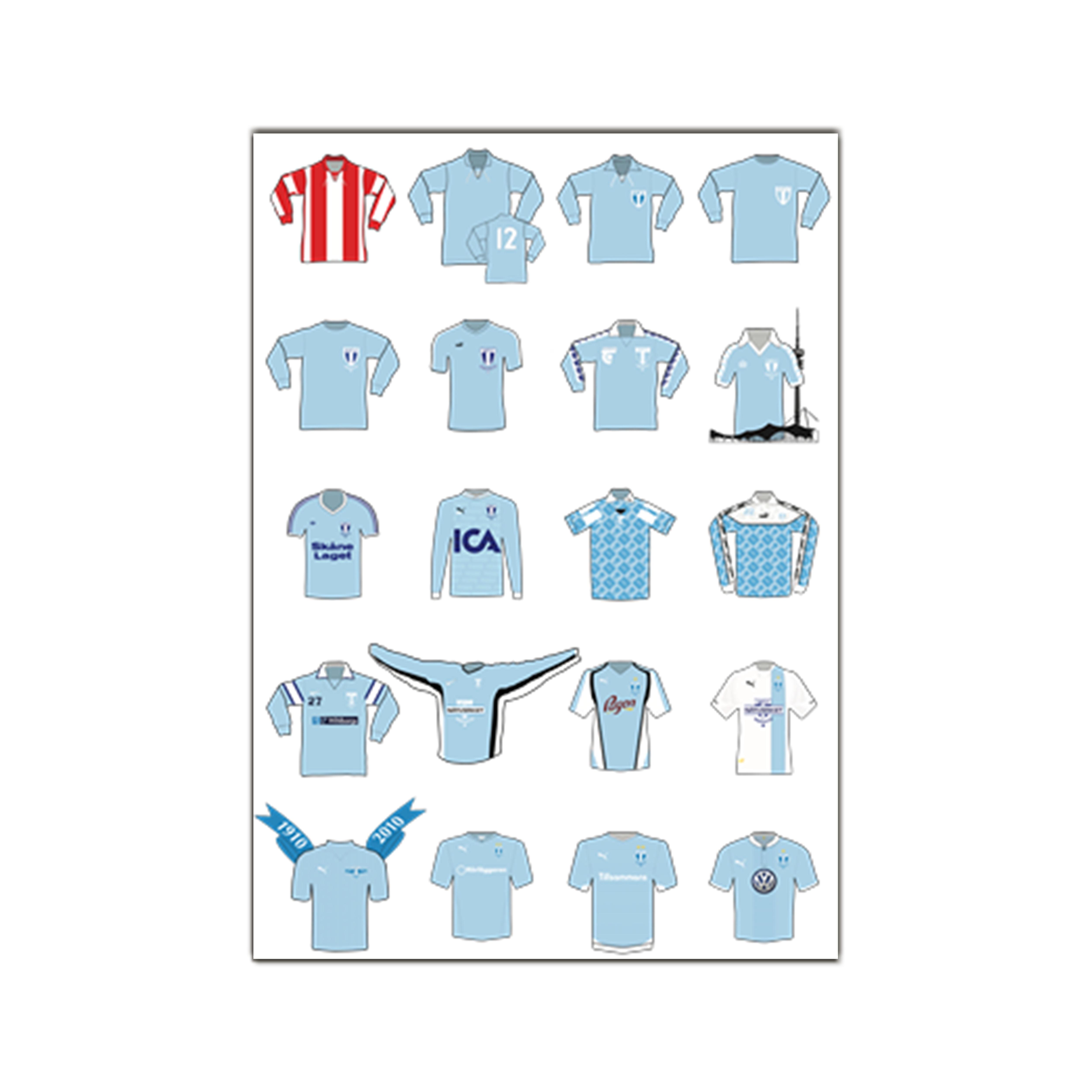 Poster - Matchtröjor Genom Tiderna