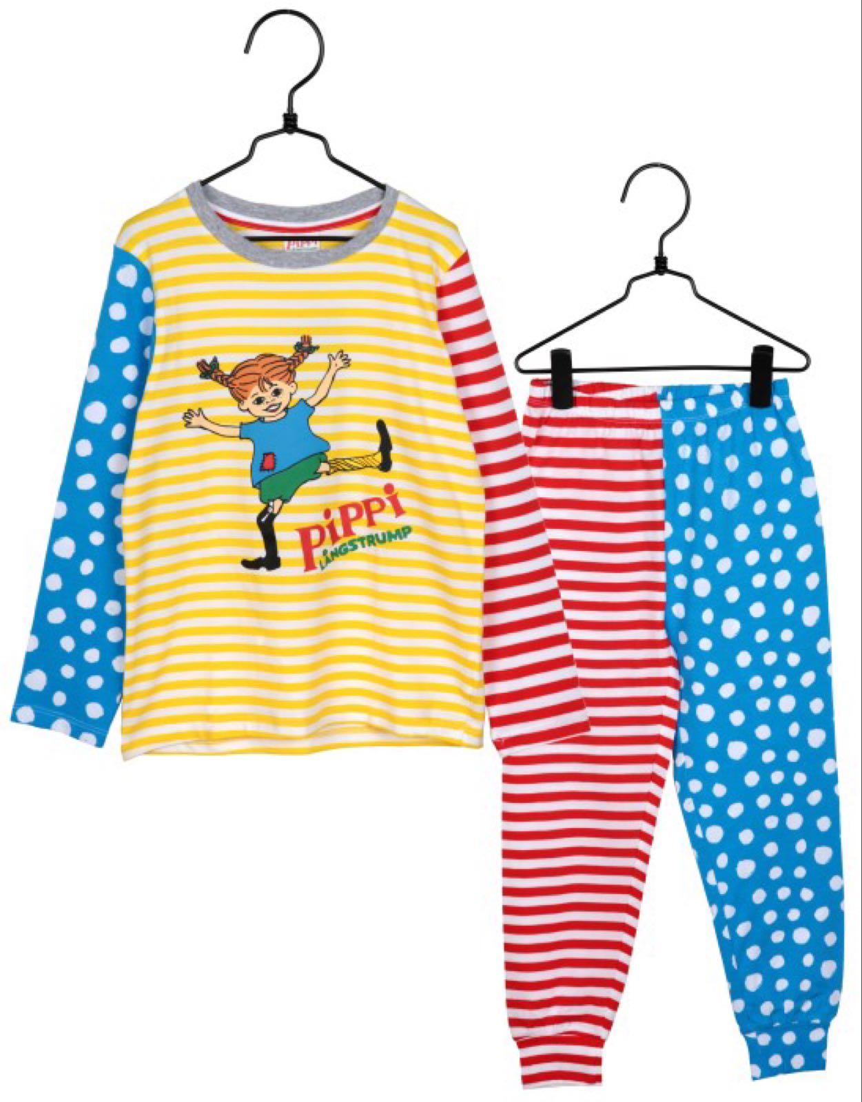 Pippi pyjamas strl 122/128