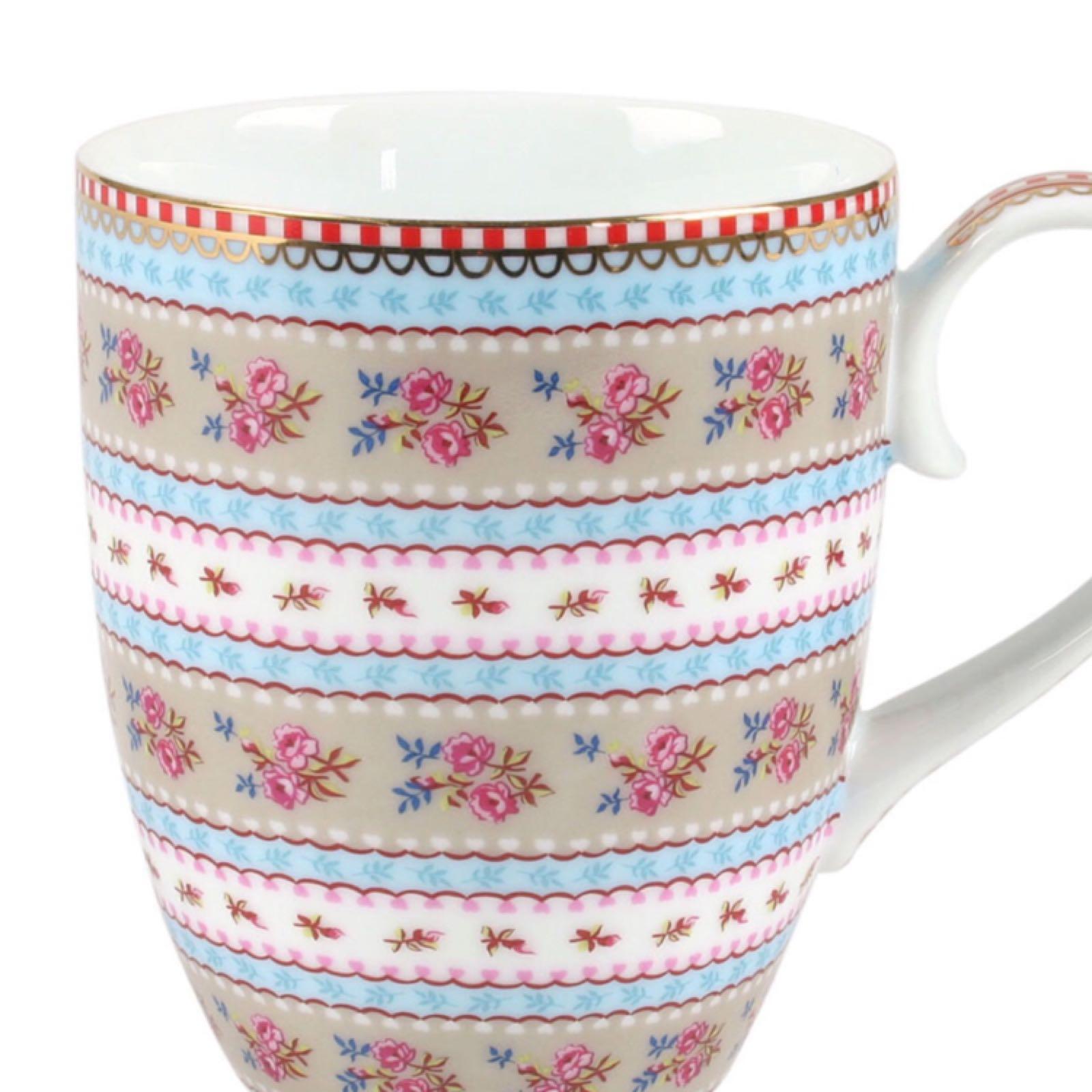 Pip studio small ribbon rose khaki mug