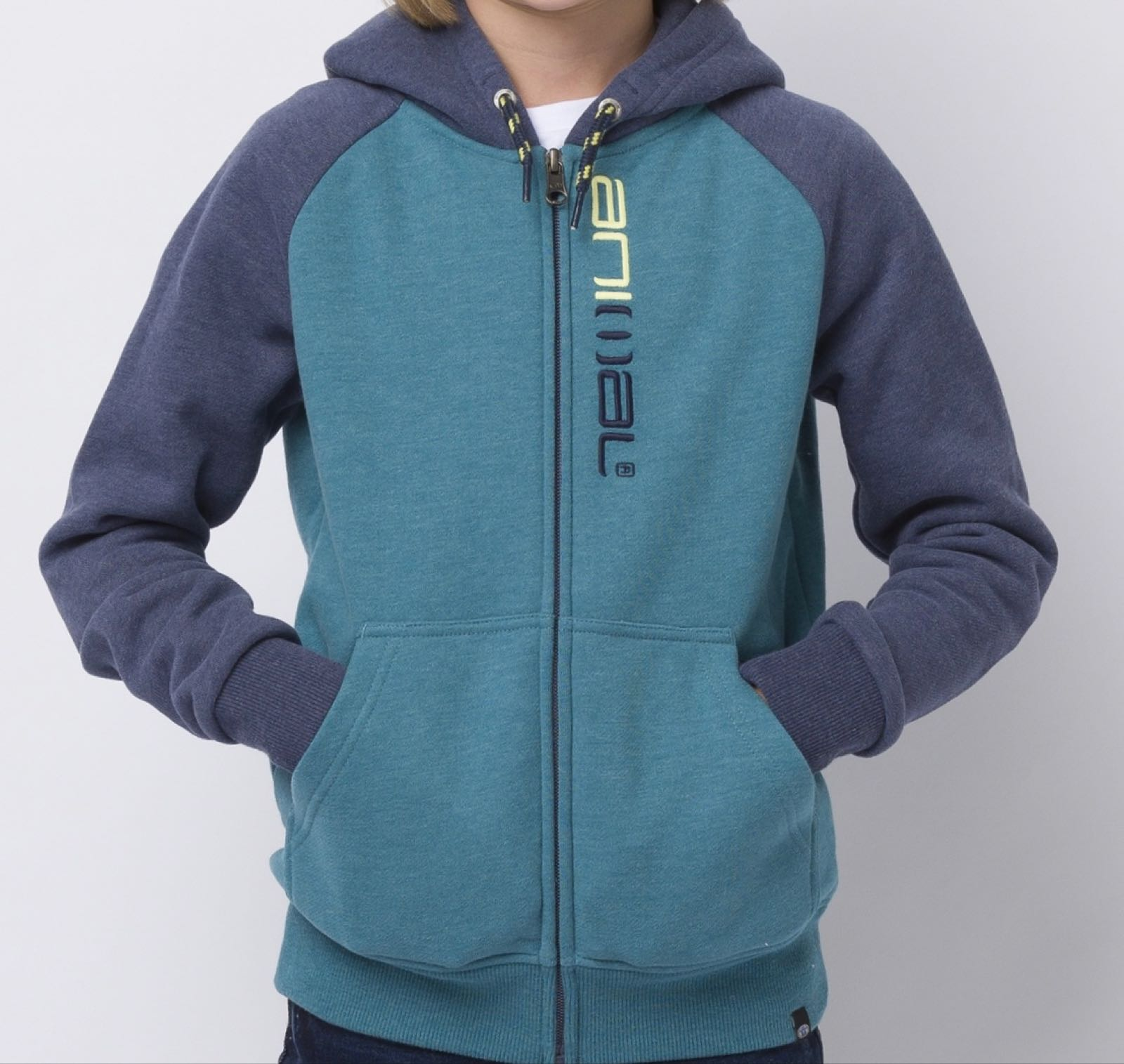Animal Zip Through Humming Hoody, Colonial
