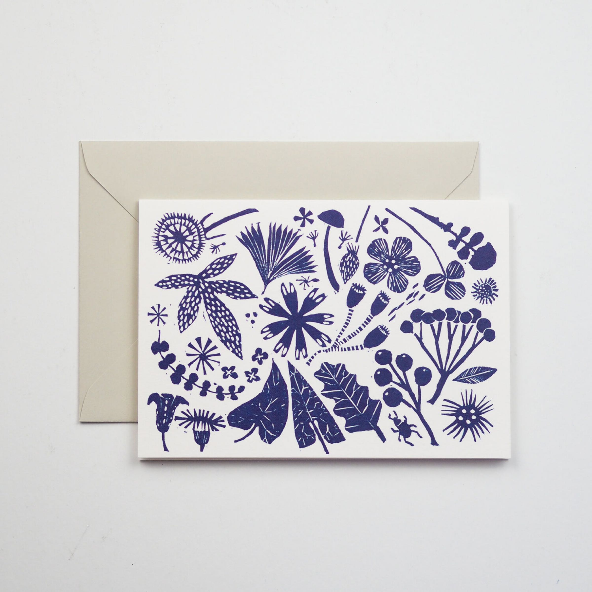 Blue Flowers Card by Hadley paper Goods