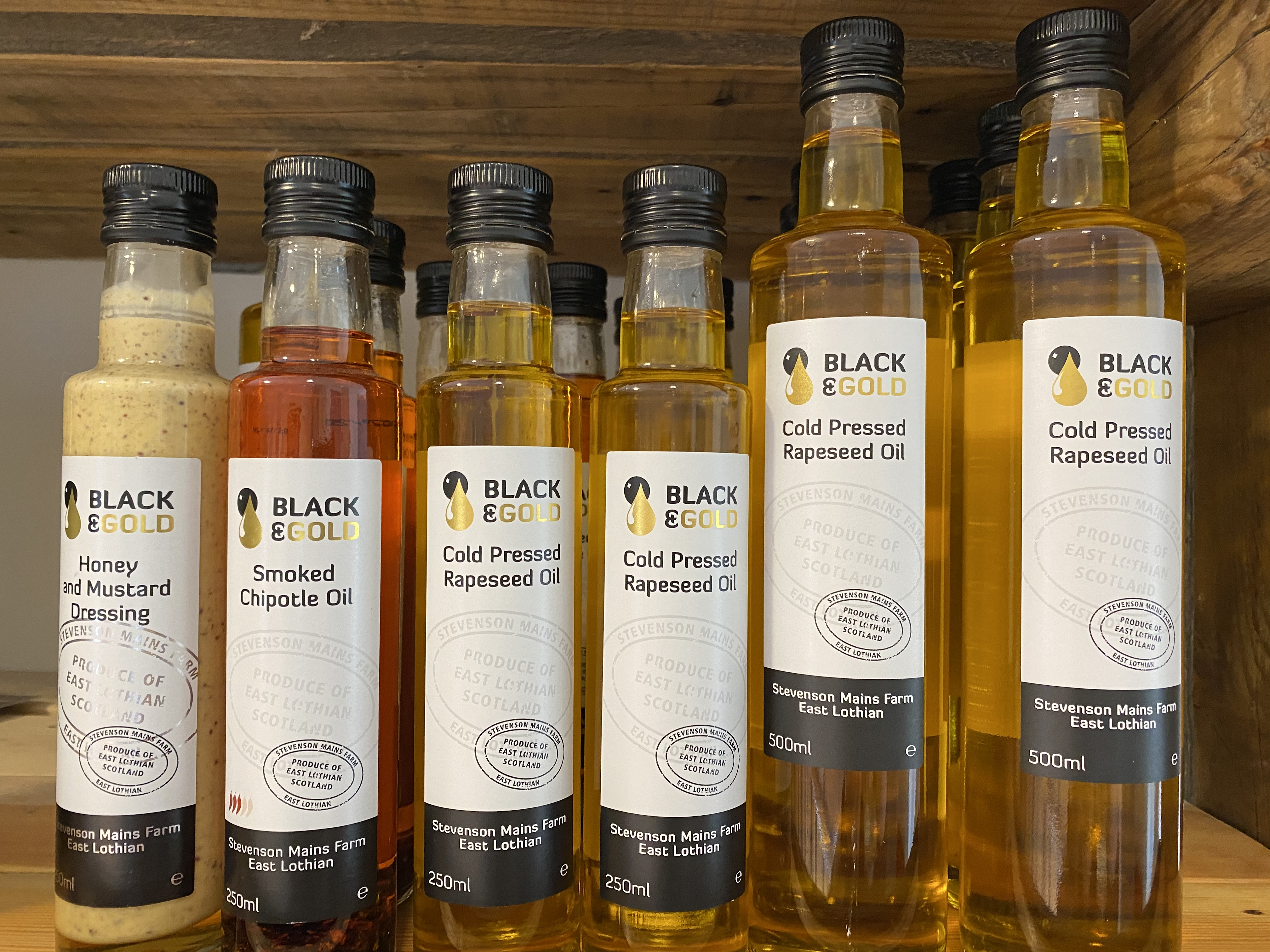 Black and Gold Cold Pressed Rapeseed Oil