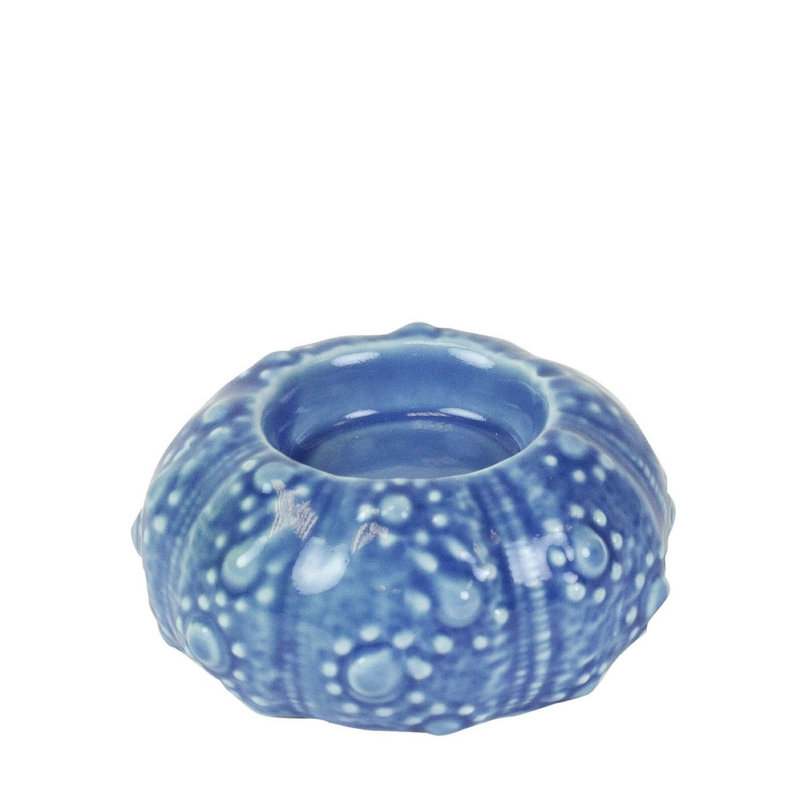 Blue Sea Urchin Tealight Holder SALE 25% (£3.95)