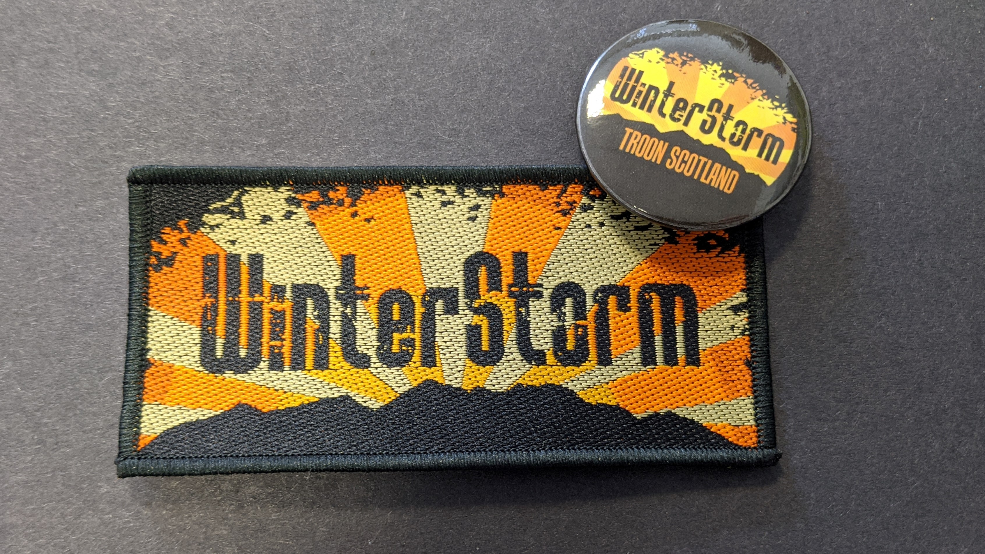 WinterStorm - Merchandise - Embroidered Patch and Badge