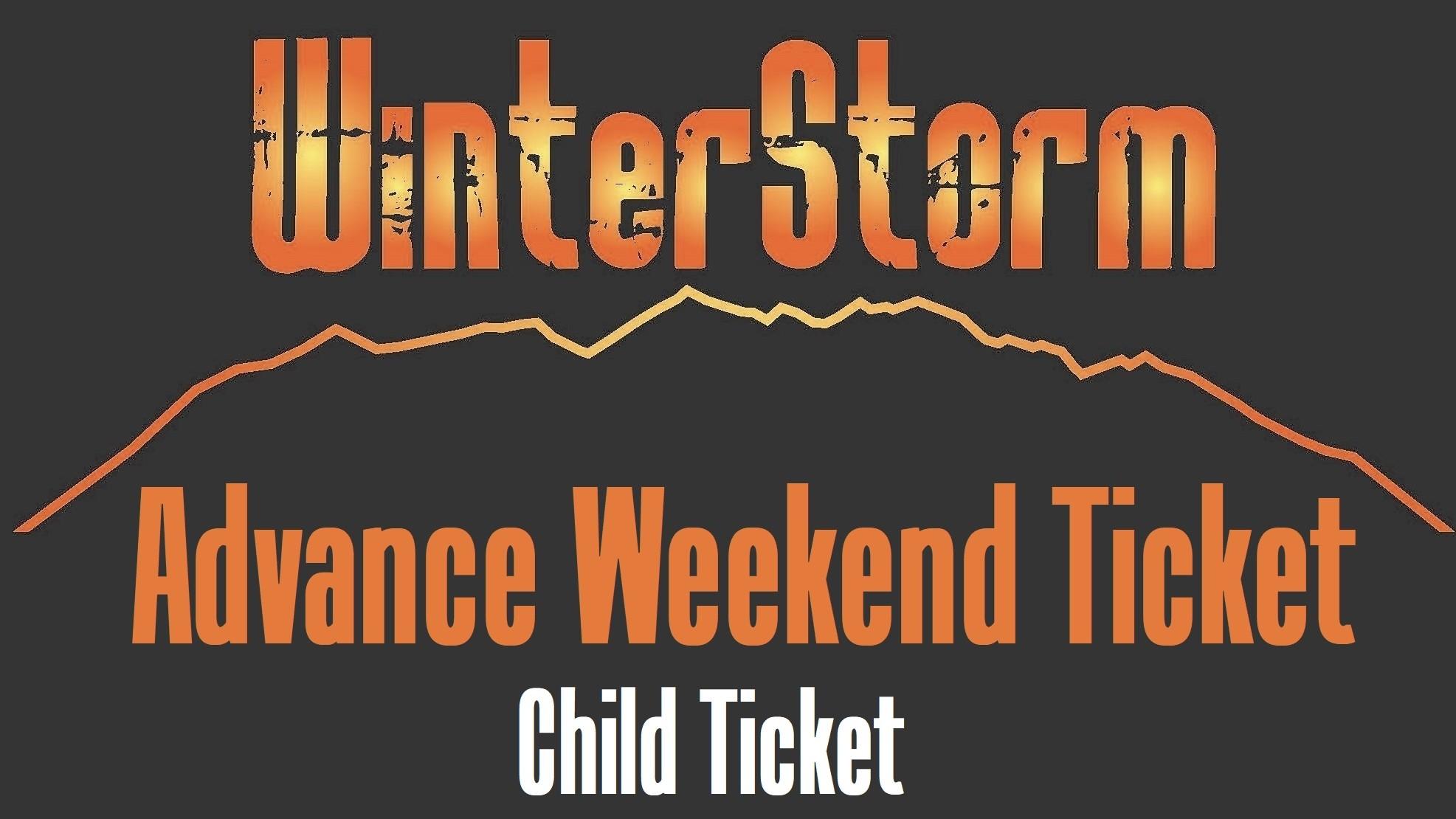 WinterStorm 20 - Advance Weekend Ticket Child