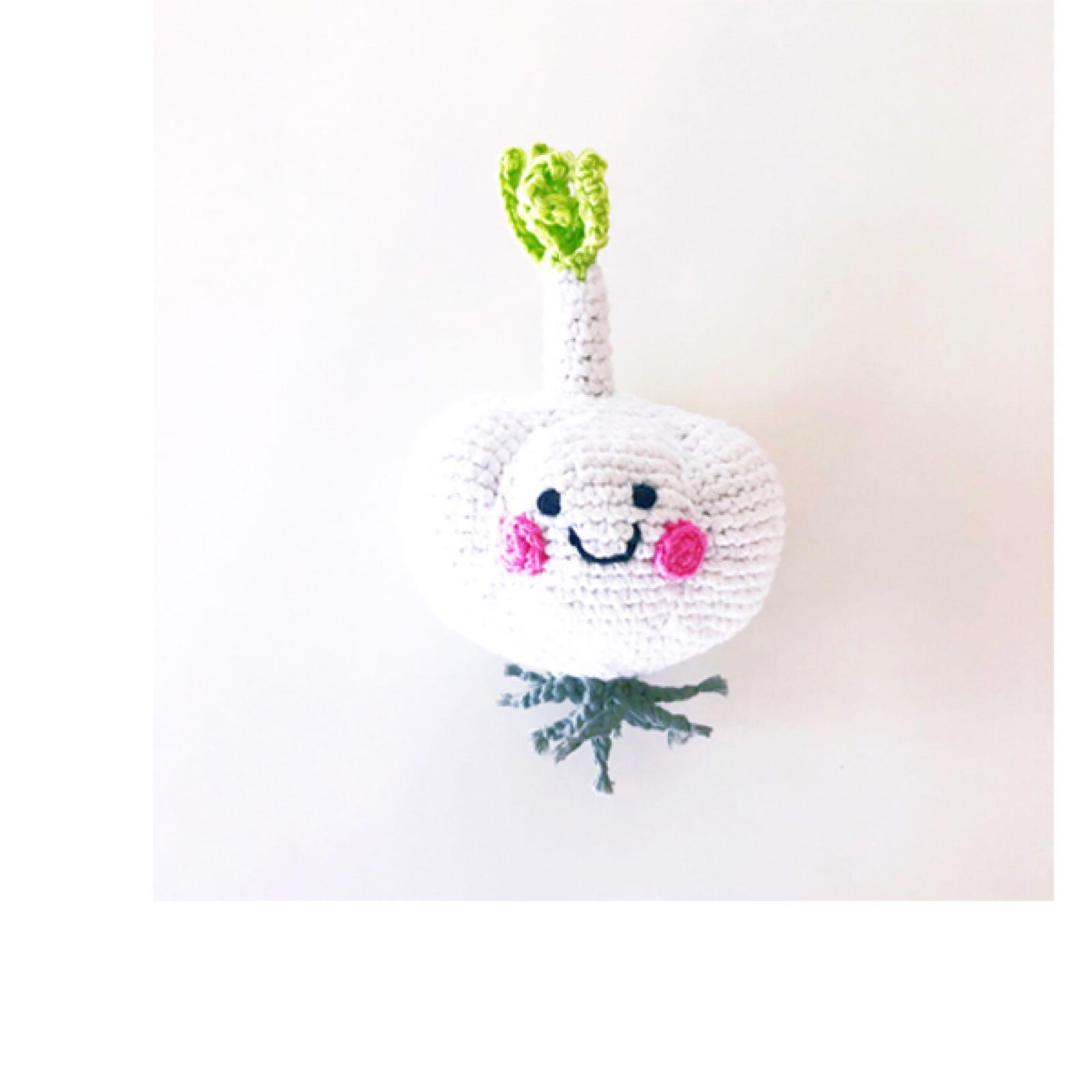 Pebble - Crochet Garlic Rattle