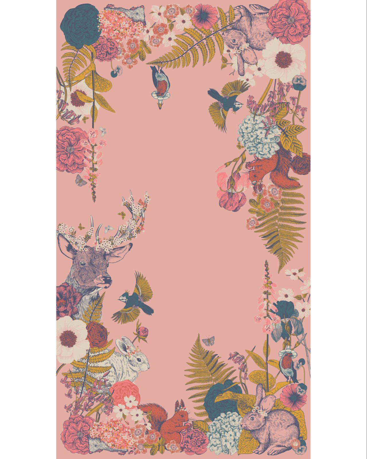 Powder Countryside Animal print scarf