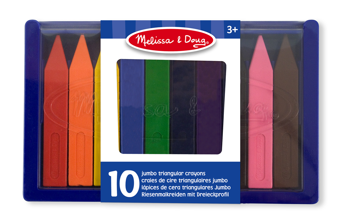 Jumbo Triangular Crayons(10pc)