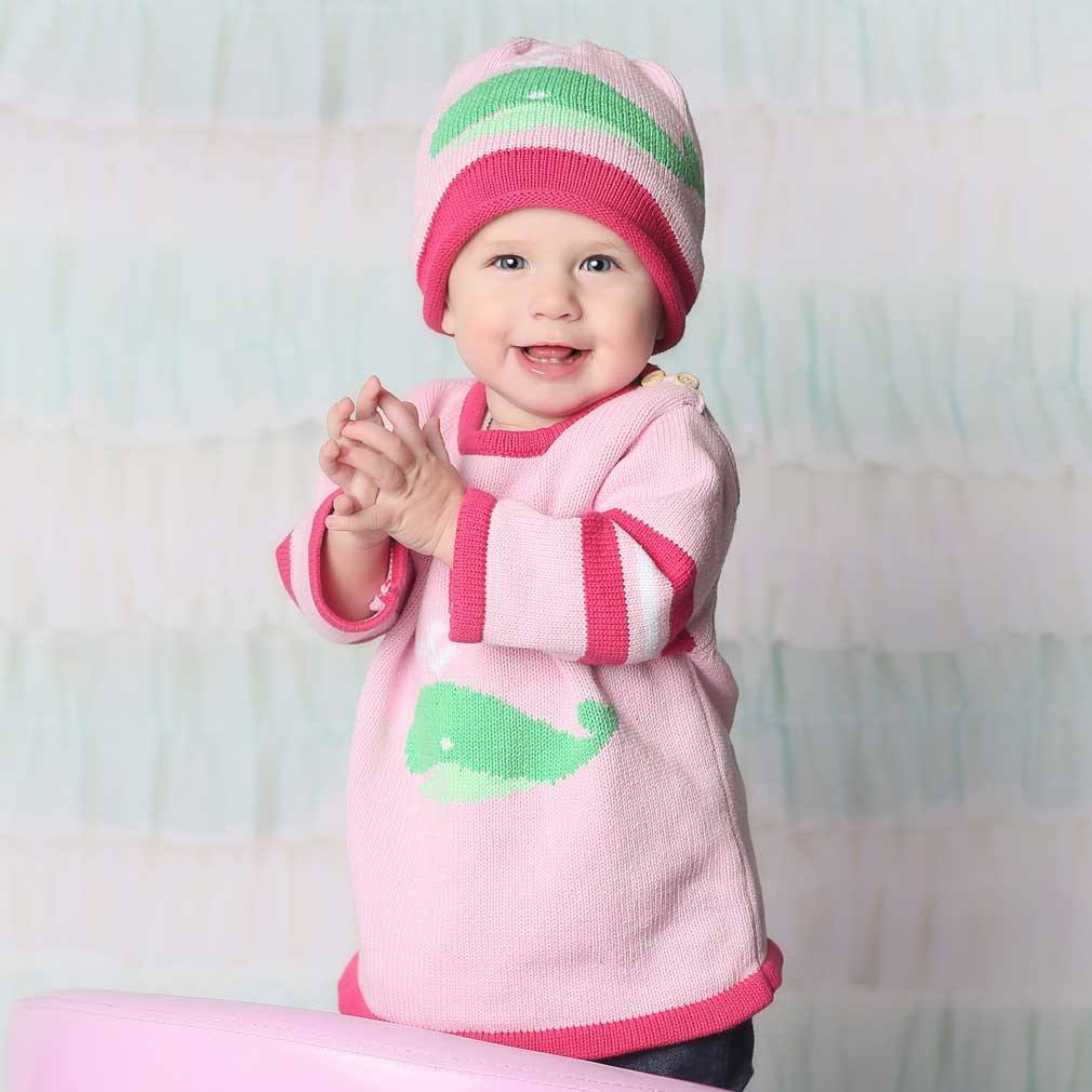 Pink Whale Sweater size 0-6mo