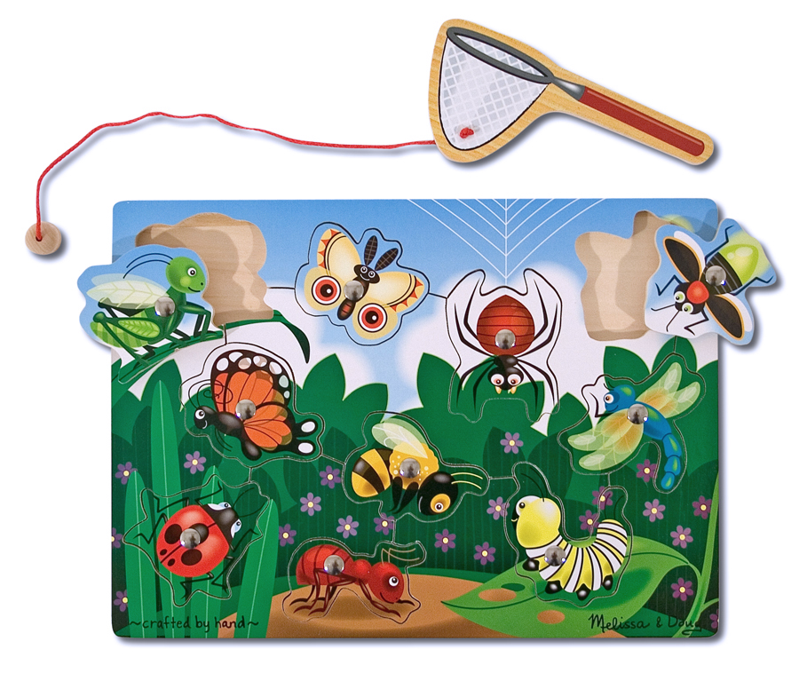 Magnetic Wooden Game - Bug-Catching
