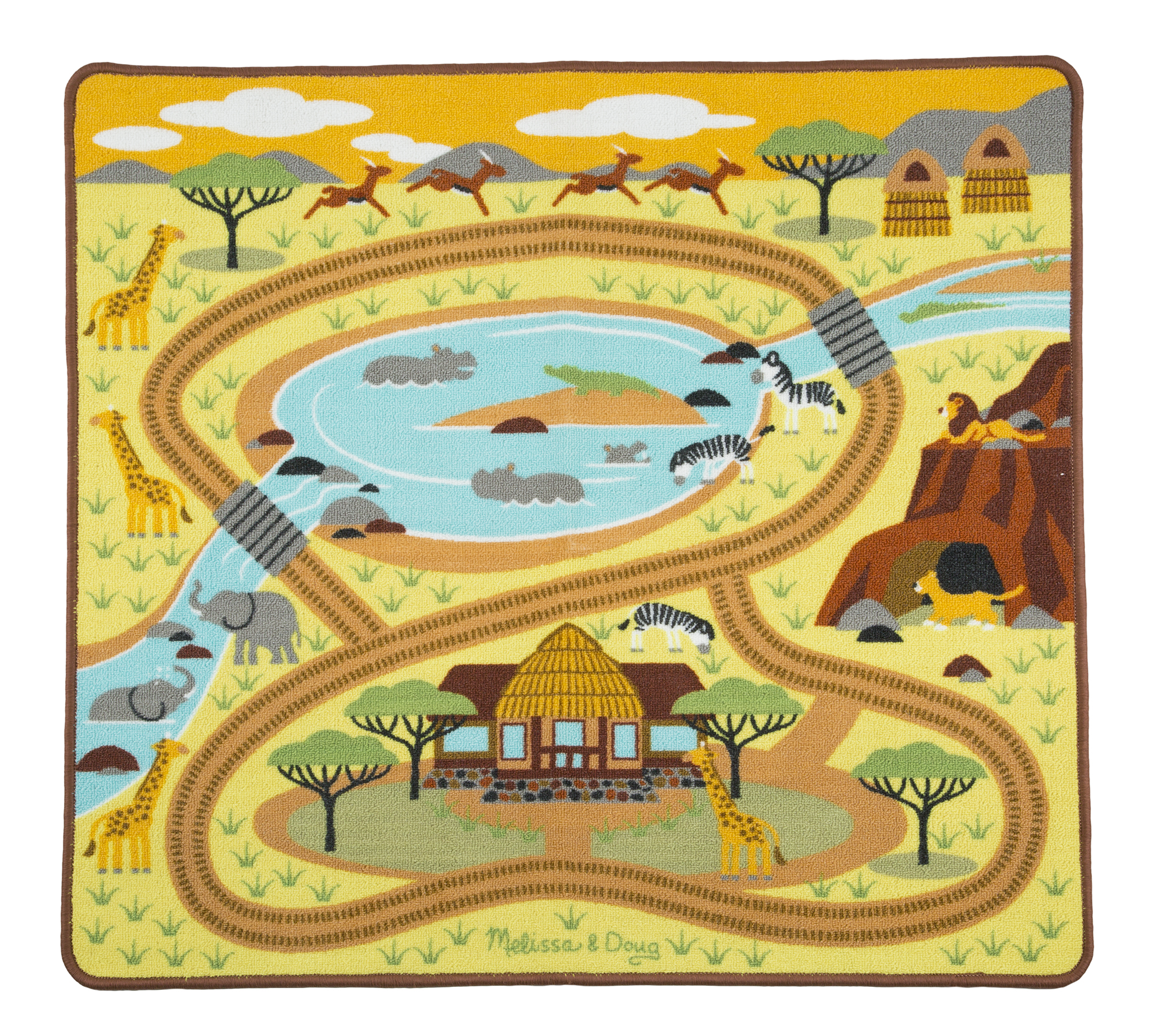 Around the savanna safari rug