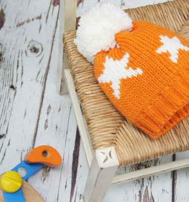 Blade & Rose Orange Star Bobble Hat
