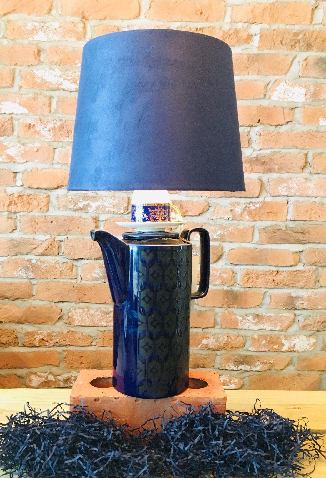 Homesea Coffee Pot & Wedgwood Lamp