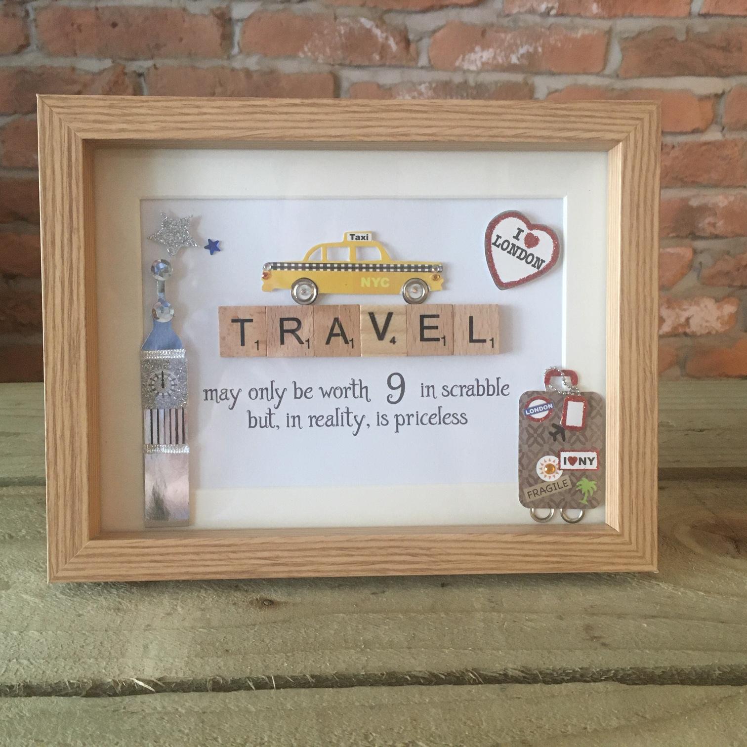Scrabble Art - Travel