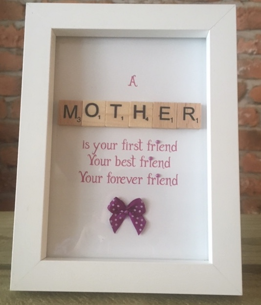 Scrabble Art - Mother Bow