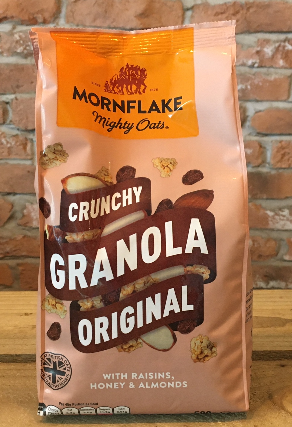Crunchy Granola Original with Raisins, Honey & Almonds, 500g