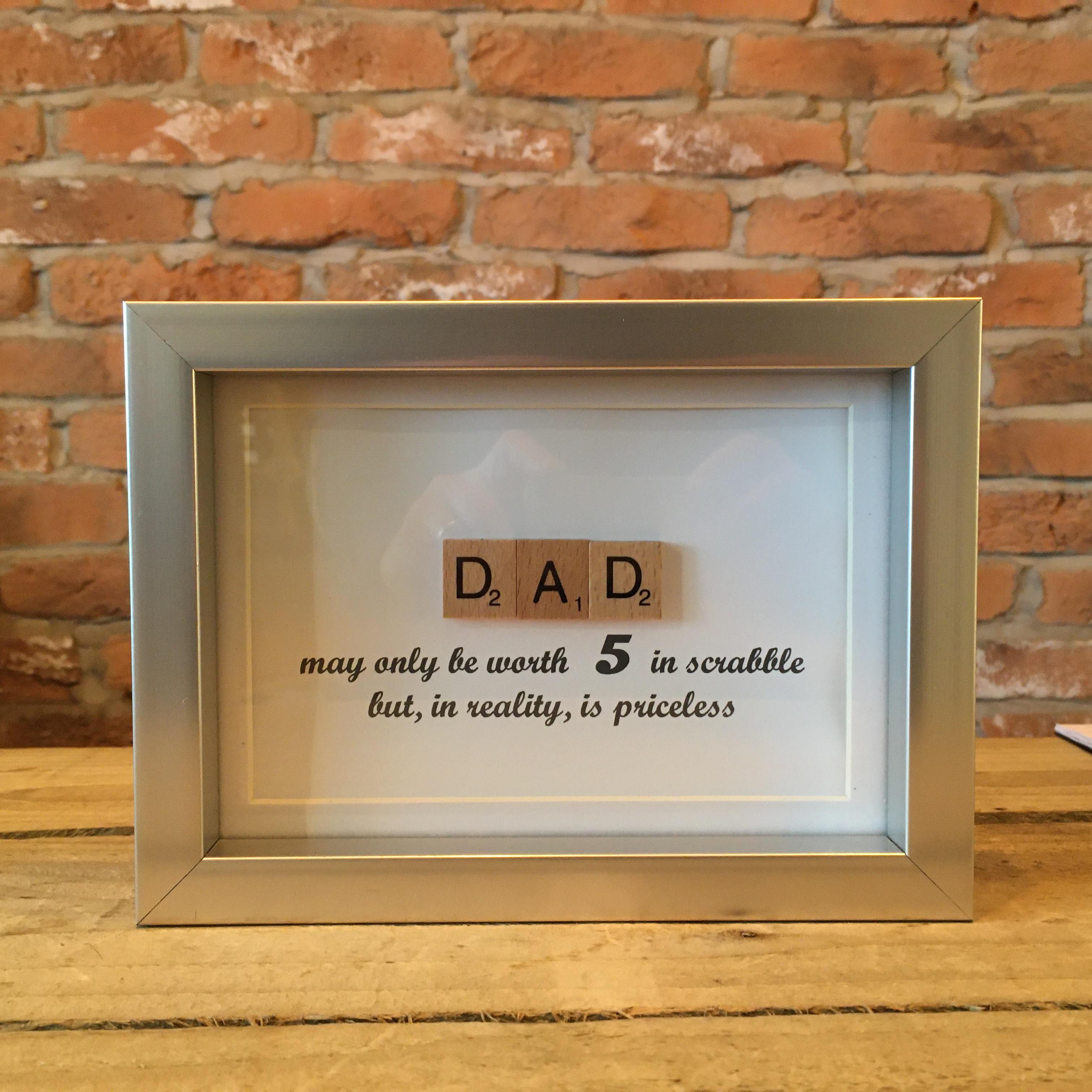 Scrabble Art - Dad