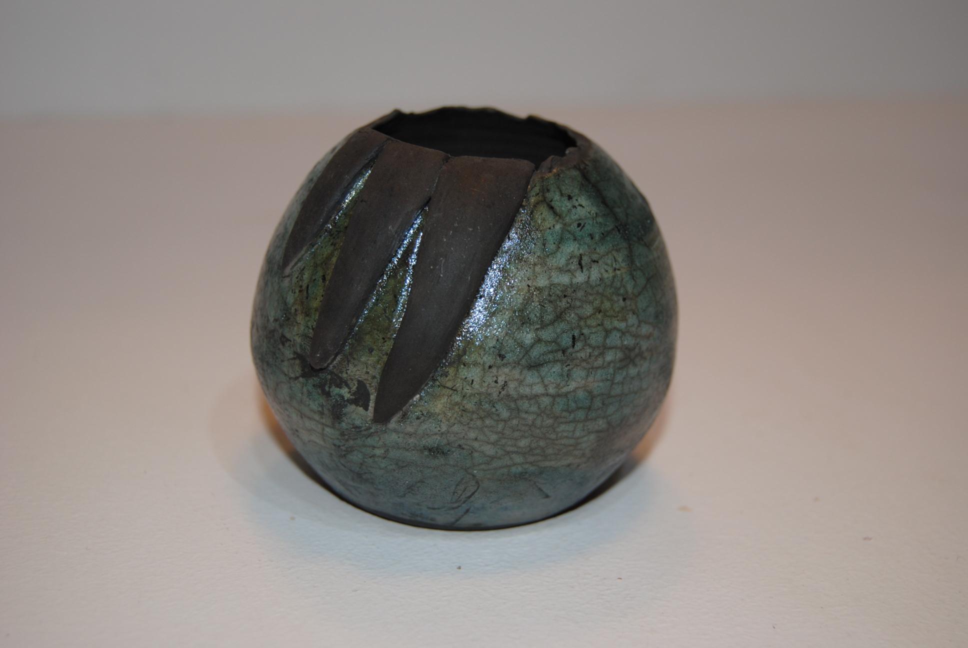 Raku Dragon Egg - Medium