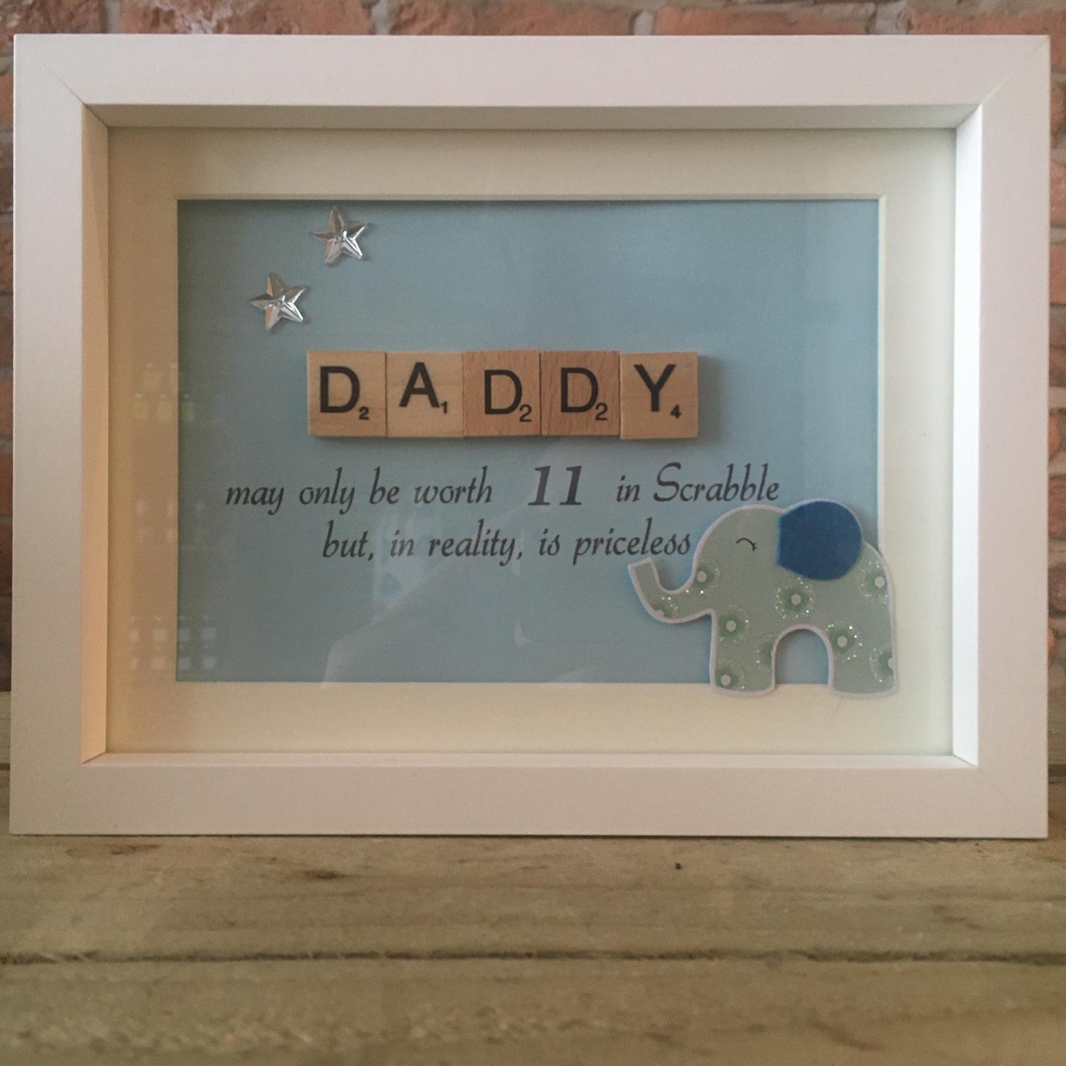 Scrabble Art - Daddy