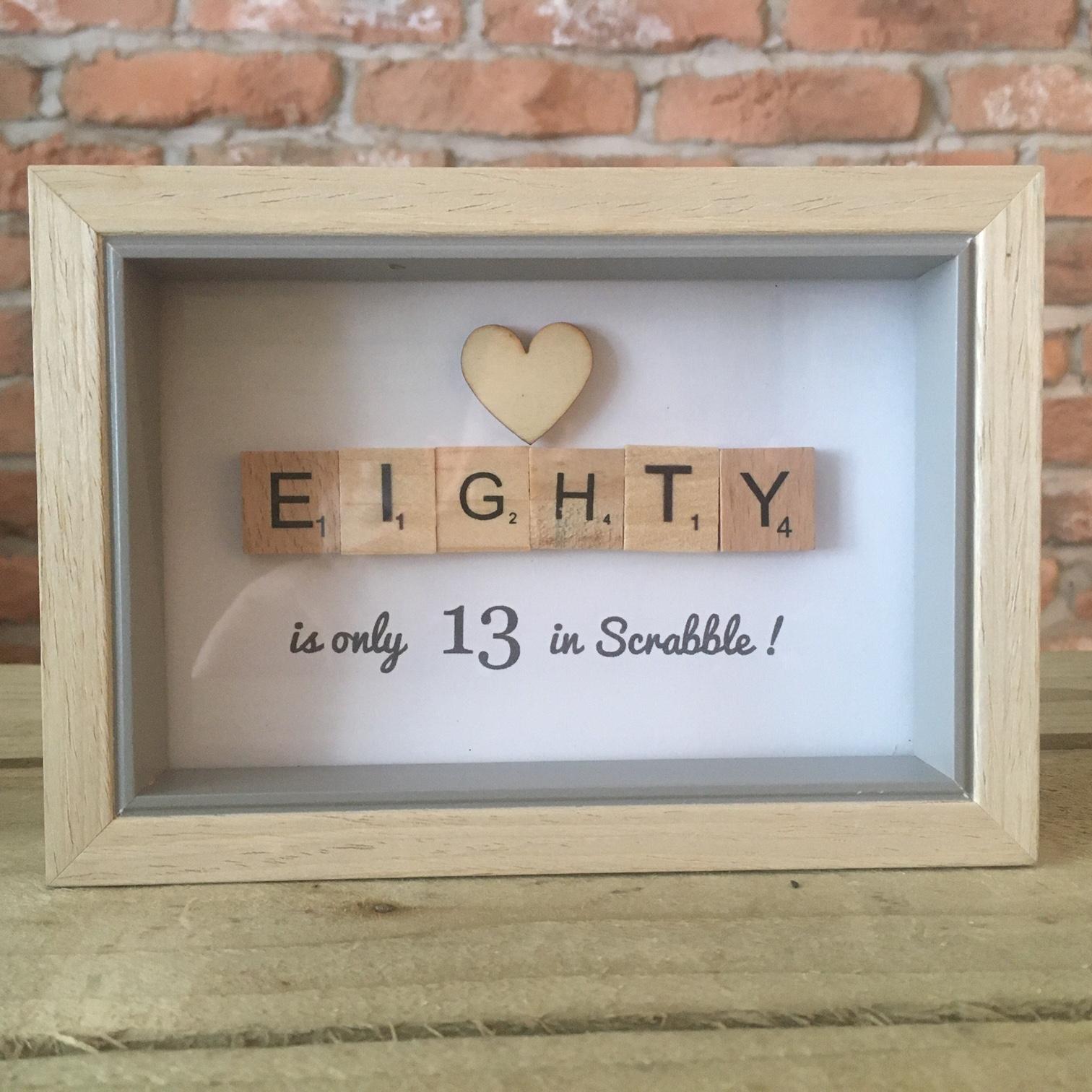 Scrabble Art - Eighty Wood Heart