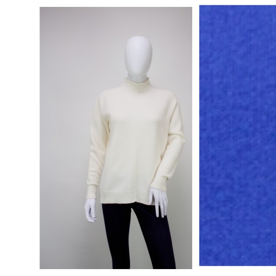 High Neck Fit Knitted Jumper (Emperor Blue)