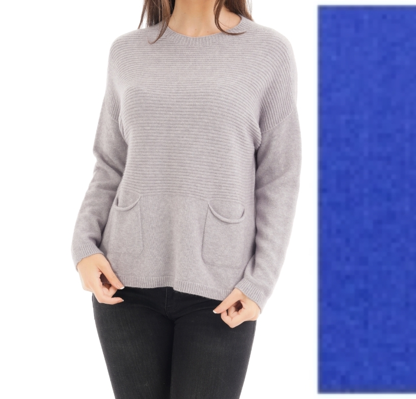 Lined Jumper with Patch Pockets (Emperor Blue)