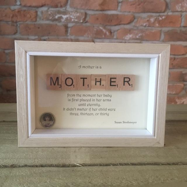 Scrabble Art - Mother