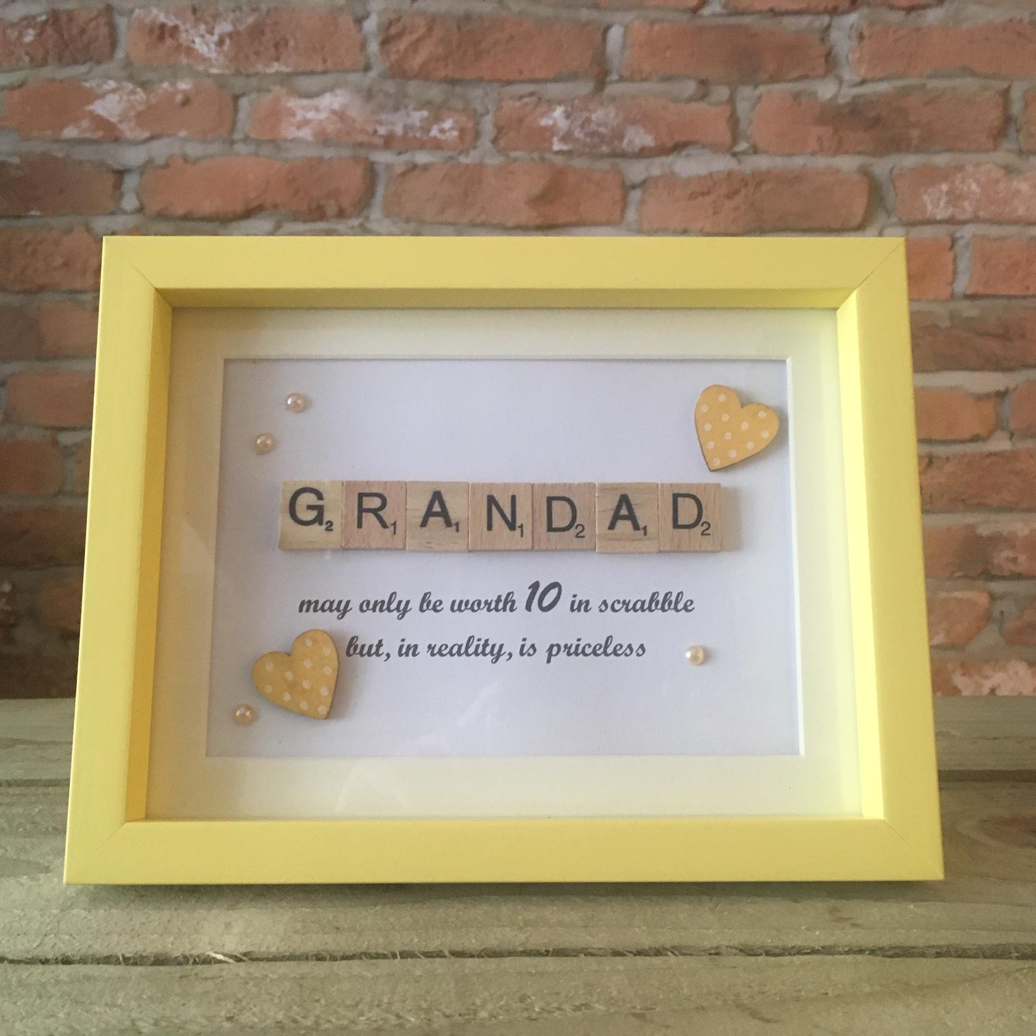 Scrabble Art - Grandad