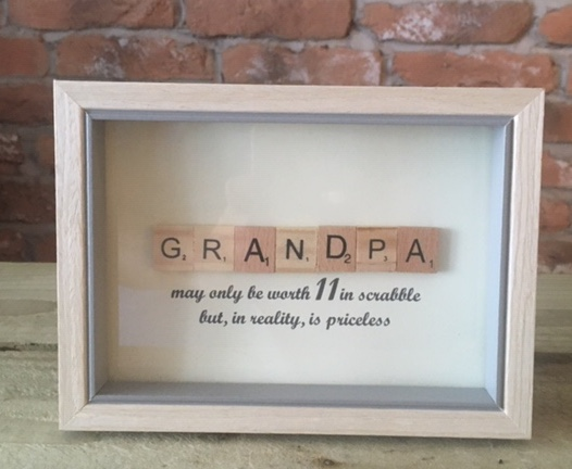 Scrabble Art - Grandpa