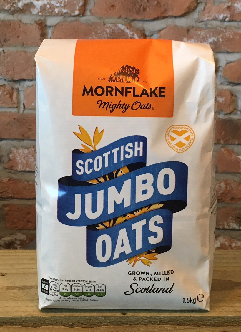 Scottish Rolled Jumbo Oats, 1.5kg