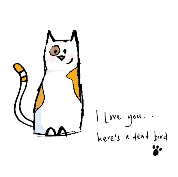 I love you - Here's a dead bird