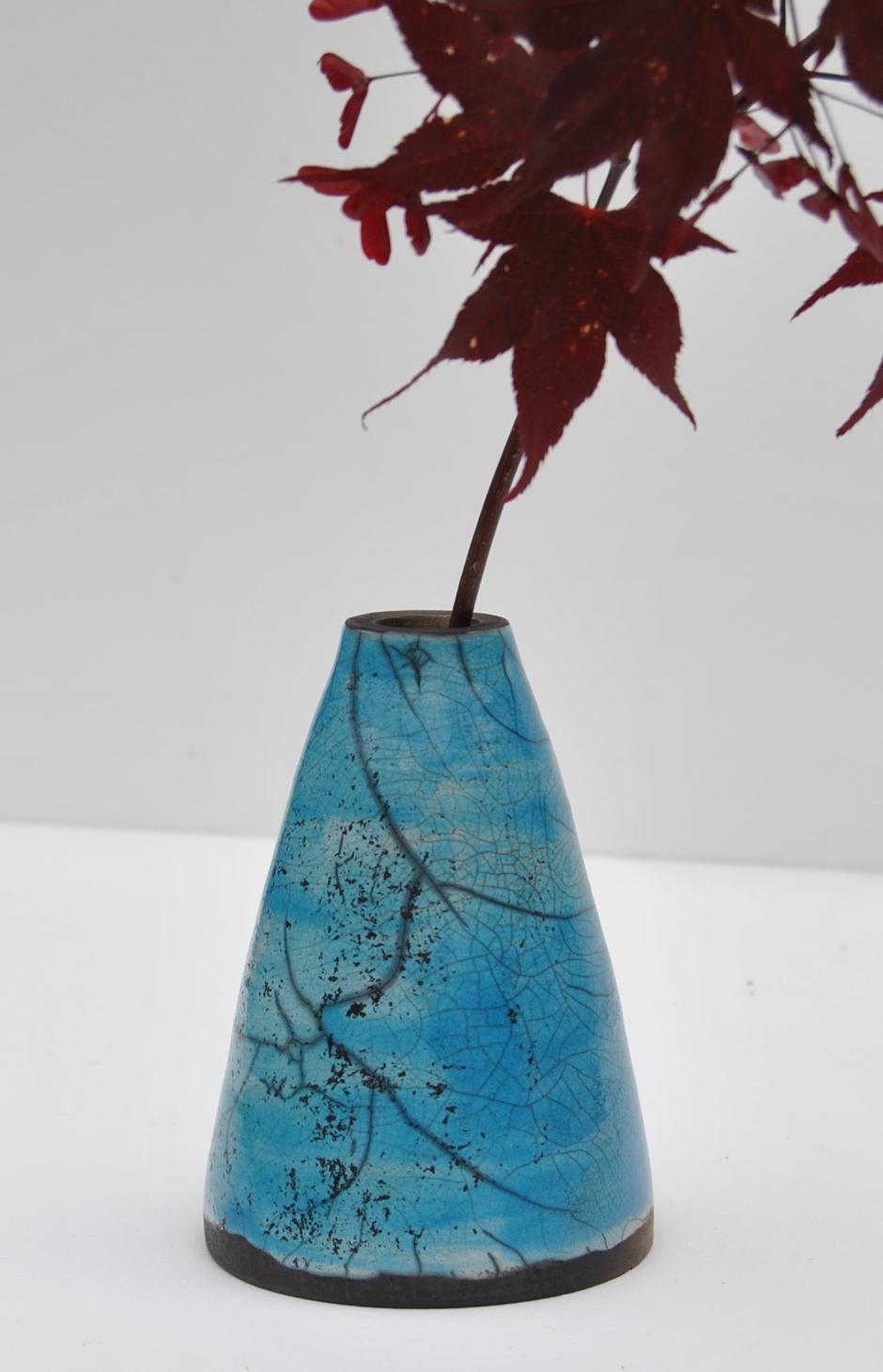 Raku Vessel - Maple Leaf