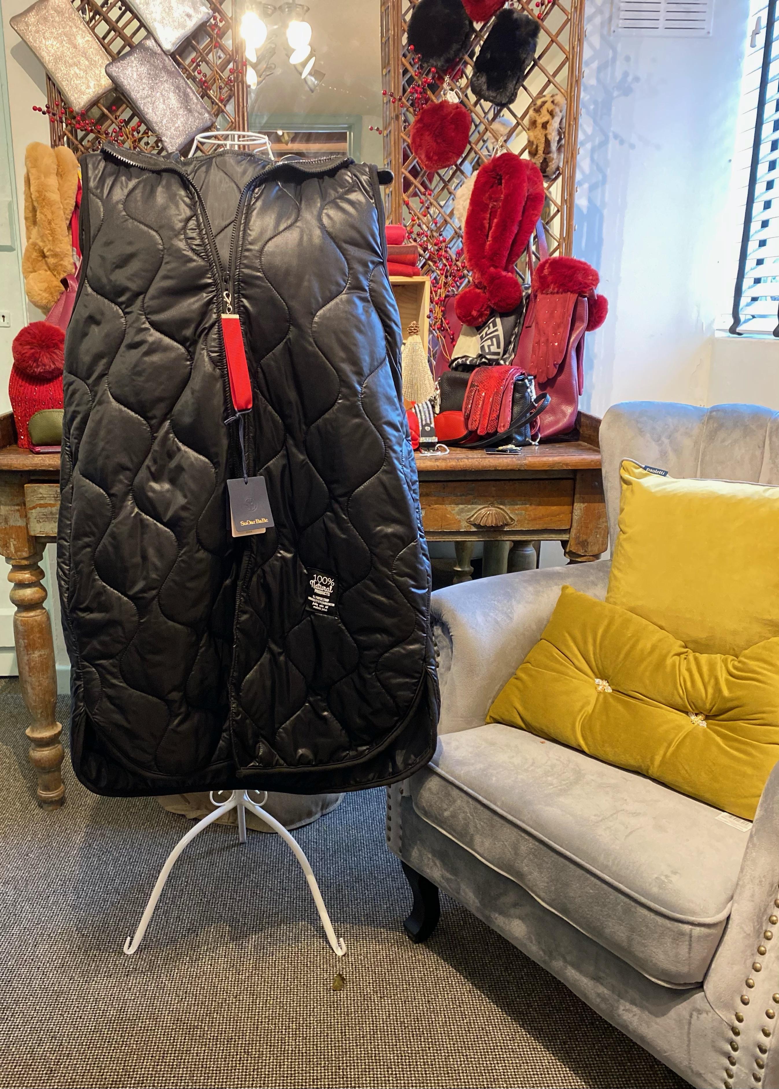 Ladies Coat (Black Sleeveless)