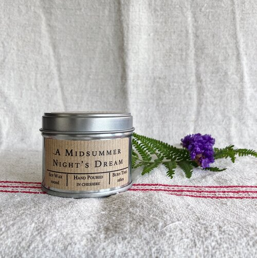 A Midsummer Night's Dream - Hand Poured Soy Wax Candle Tin