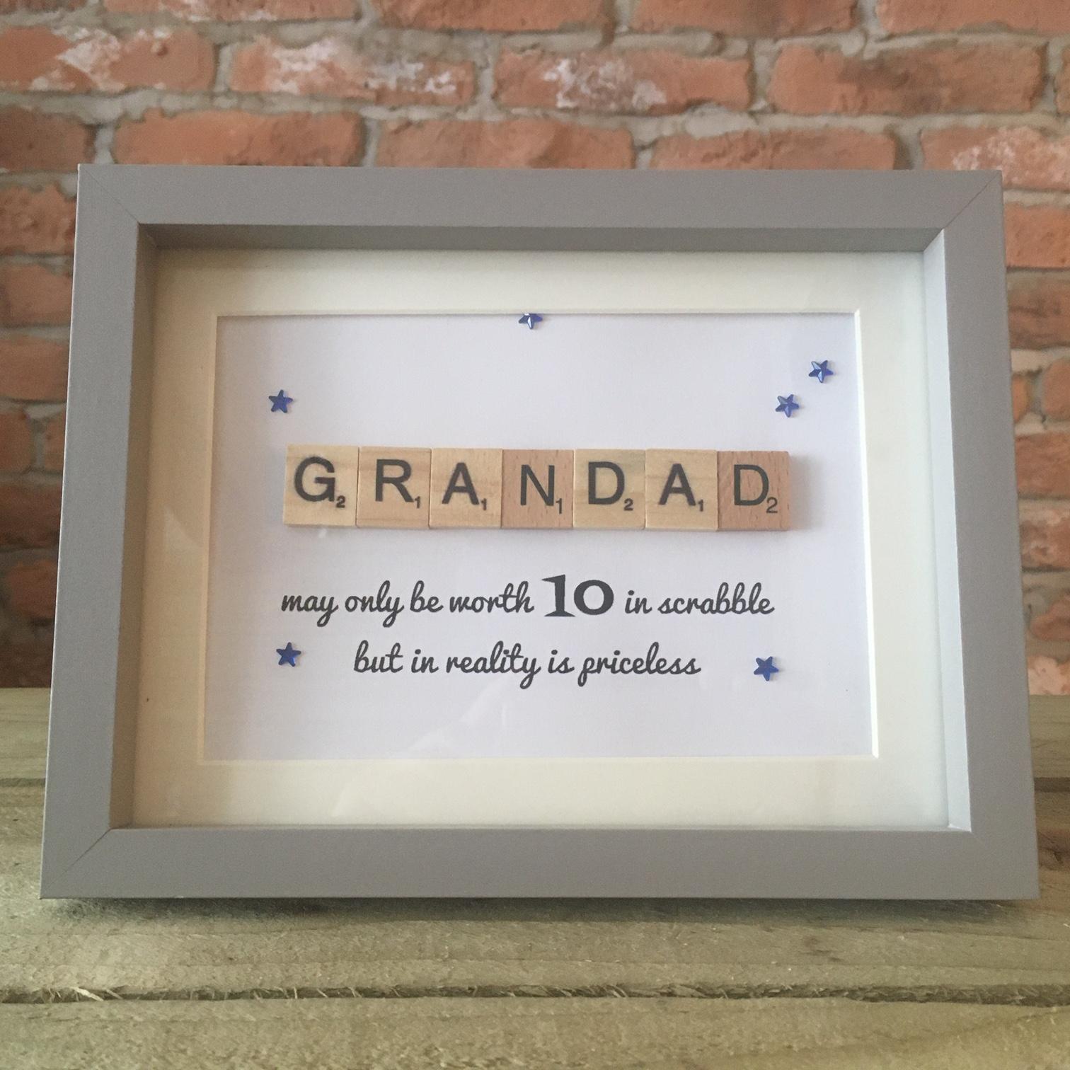 Scrabble Art - Grandad Stars