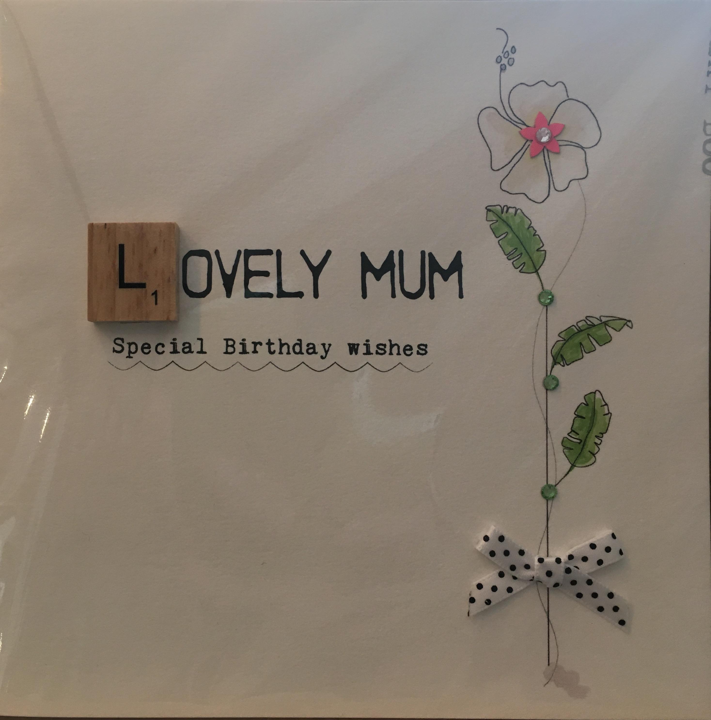 Lovely Mum Birthday - Card