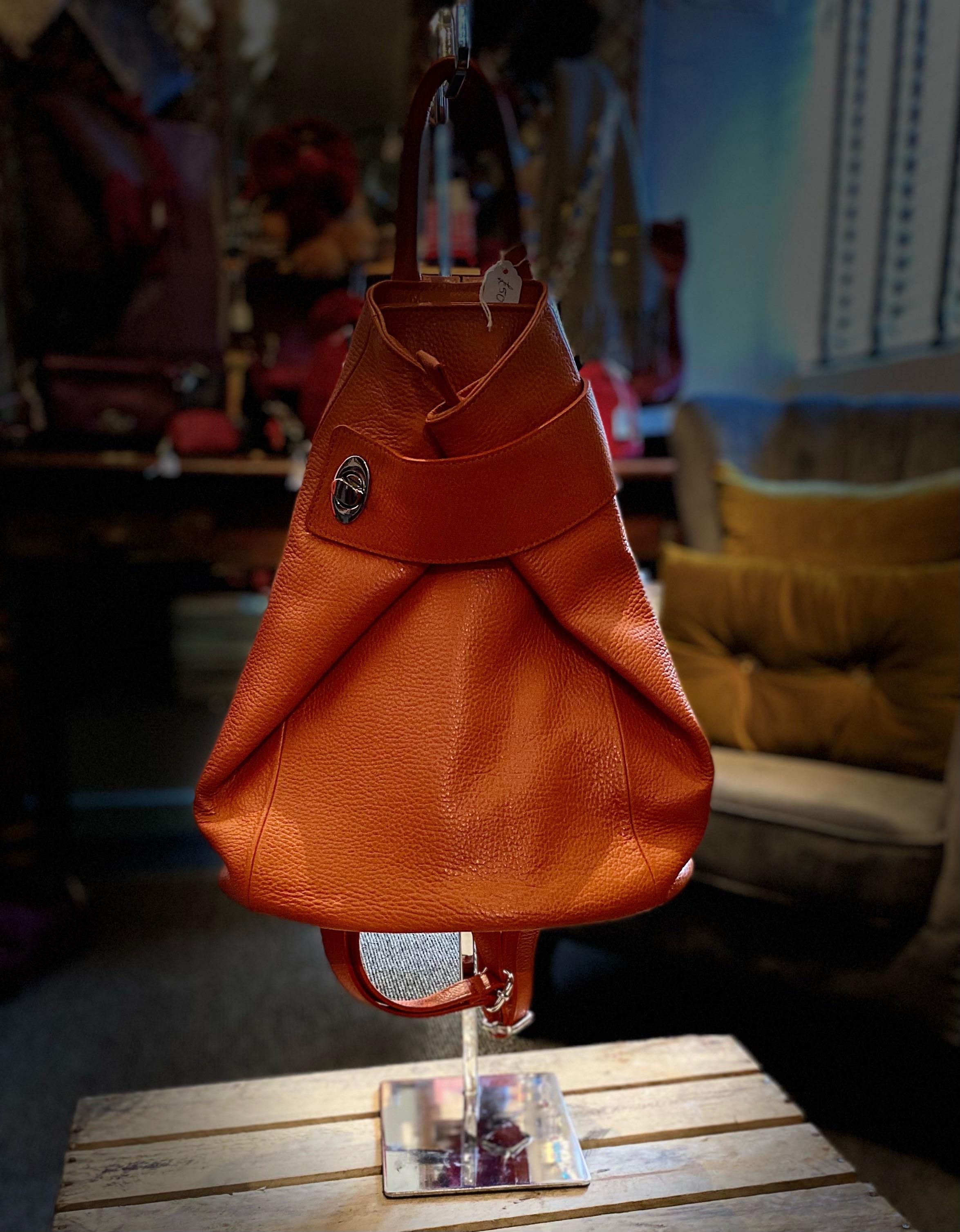Ladies Italian Leather Backpack