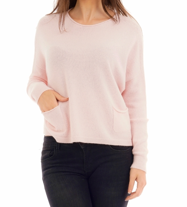 Double Pockets Jumper (Blossom Pink)