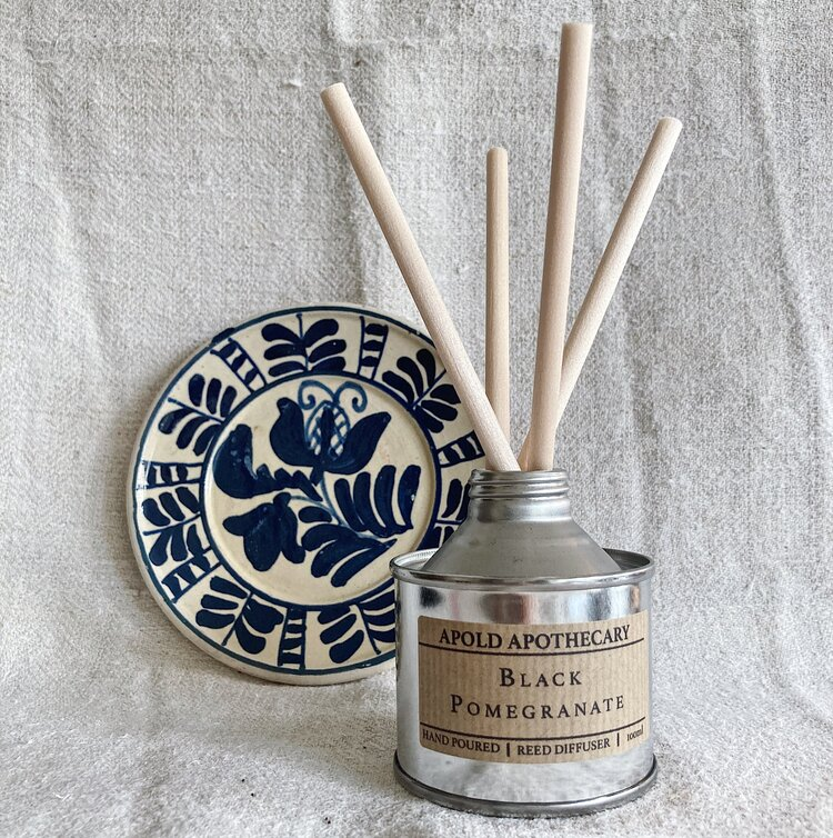 Black Pomegranate - Hand Poured Reed Diffuser