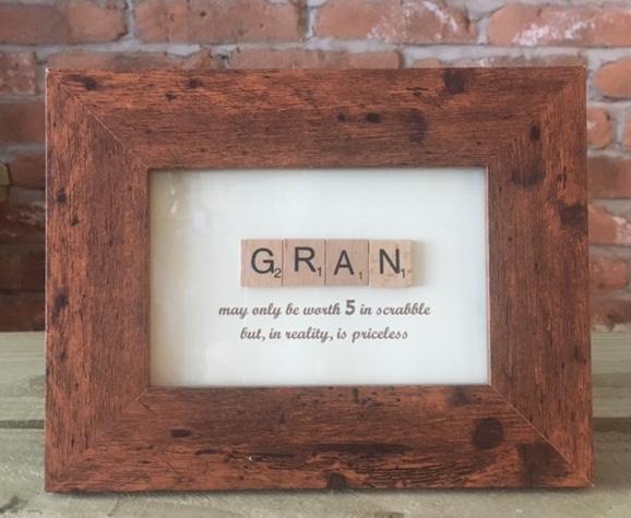 Scrabble Art - Gran Brown