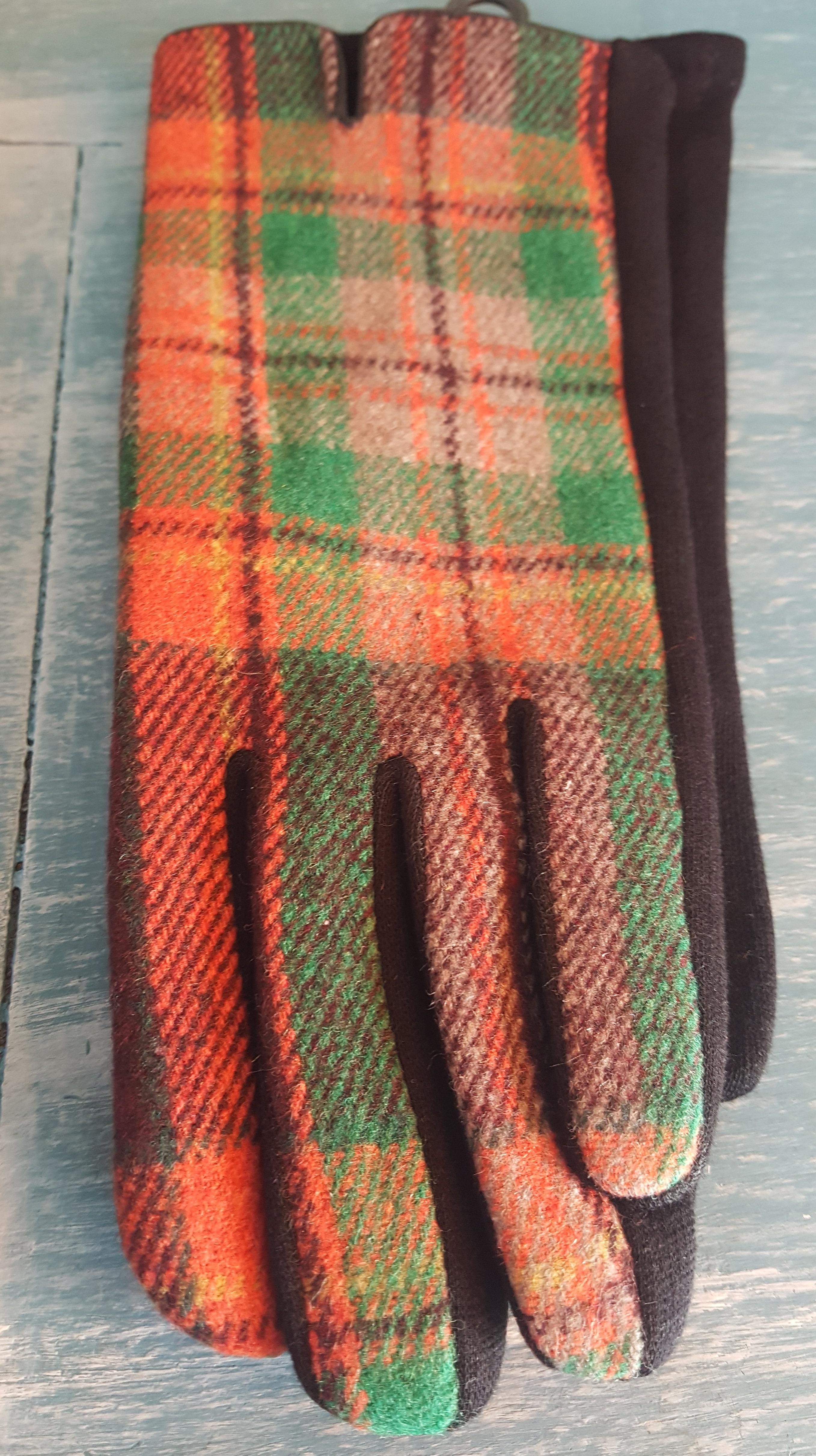 Ladies Gloves - Check Gloves