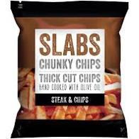 Slabs Chucky Chips, Steak & Chips, 60g