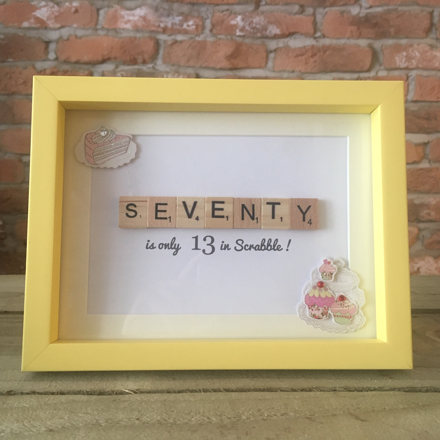 Scrabble Art - Seventy