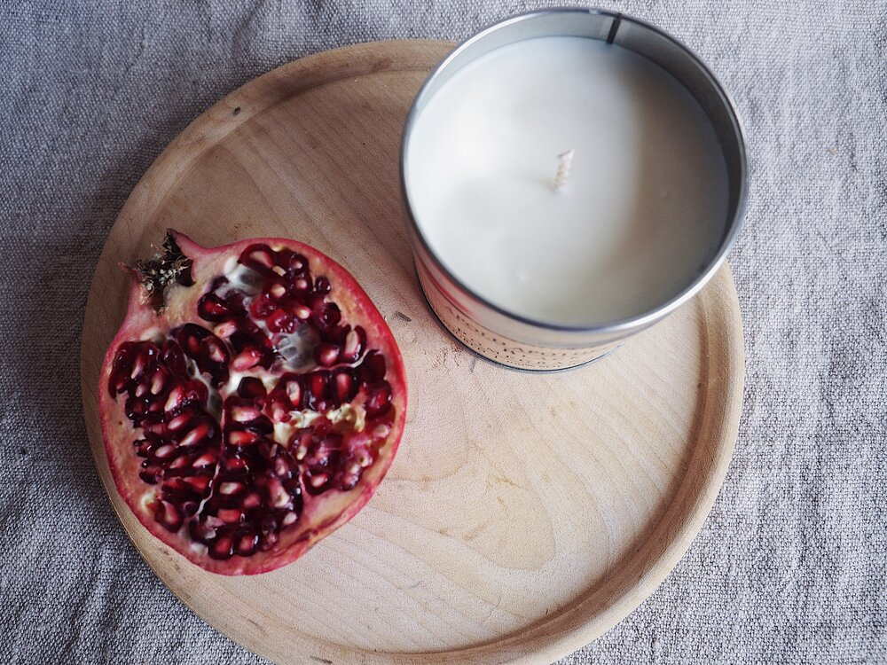 Black Pomegranate - Hand Poured Soy Wax Candle Tin
