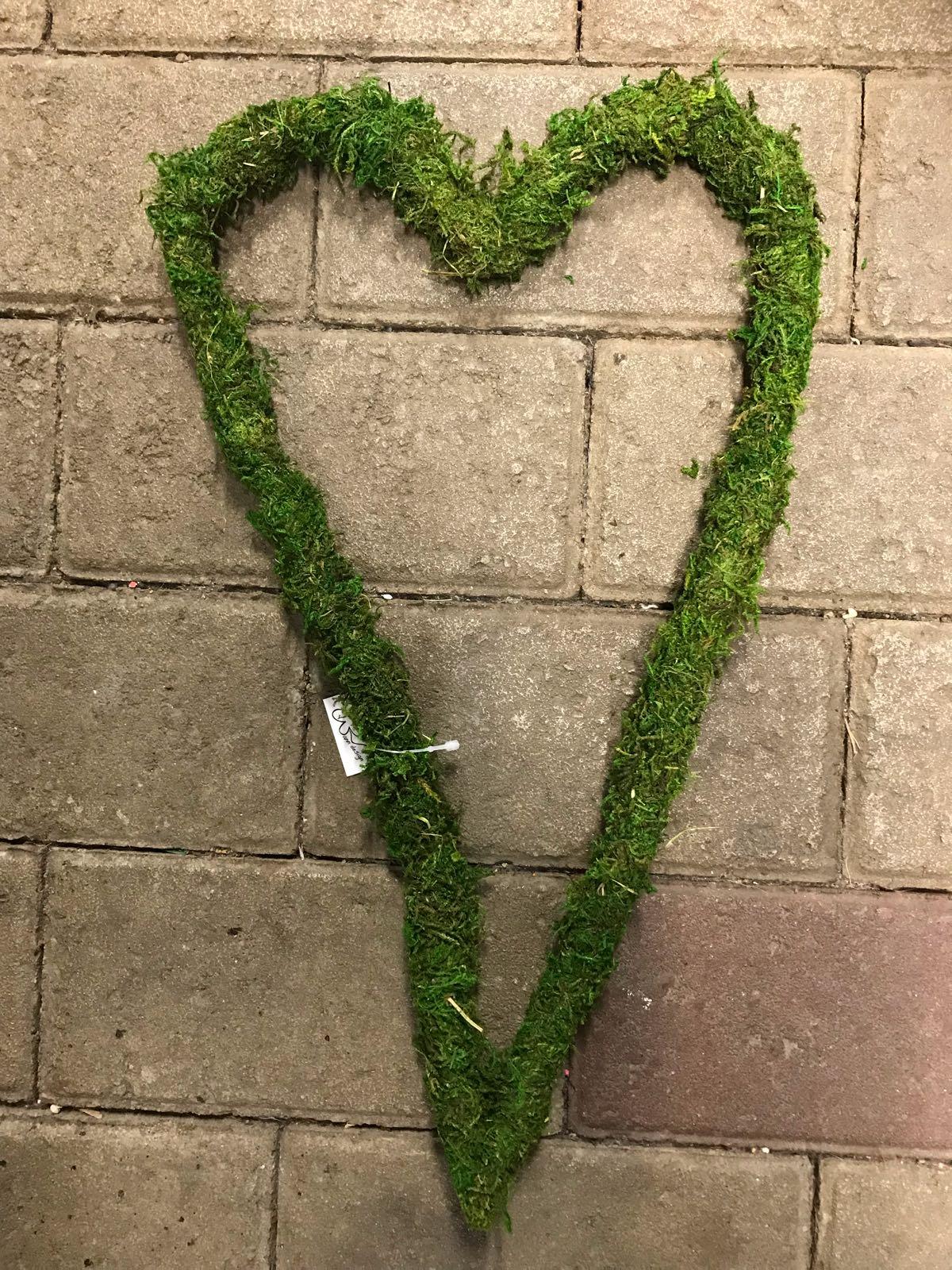 Hjärta mossa 23x40 cm