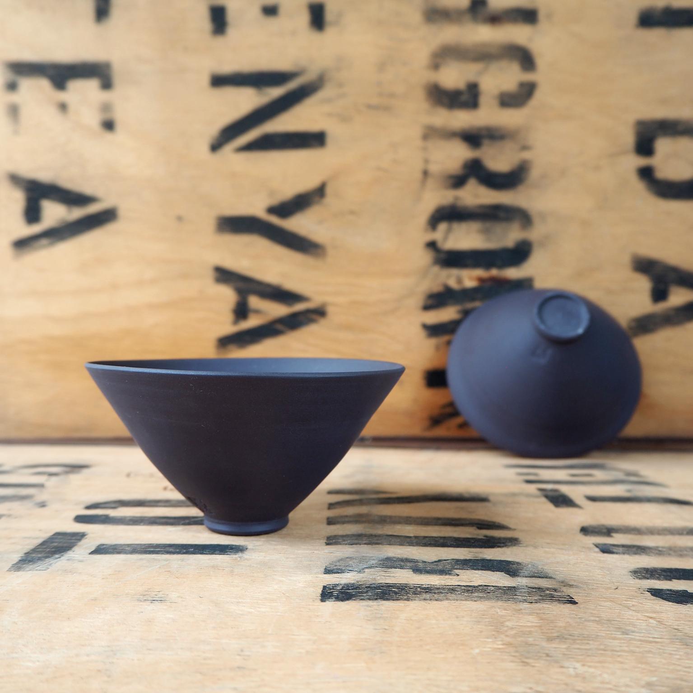 Black Porcelain Small Teabowl By Anja Graefe