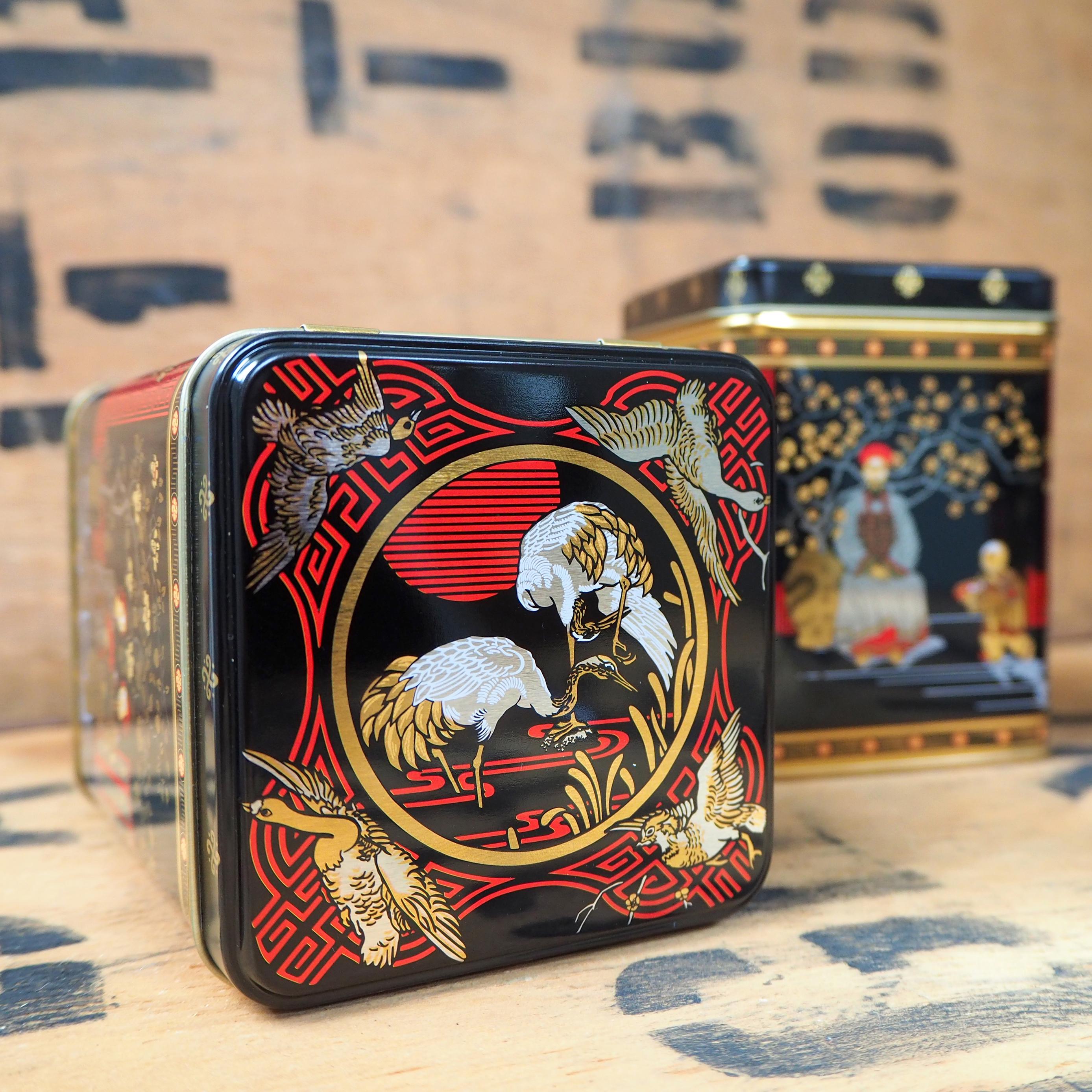 Tea Caddy ~ Traditional Japanese Scene