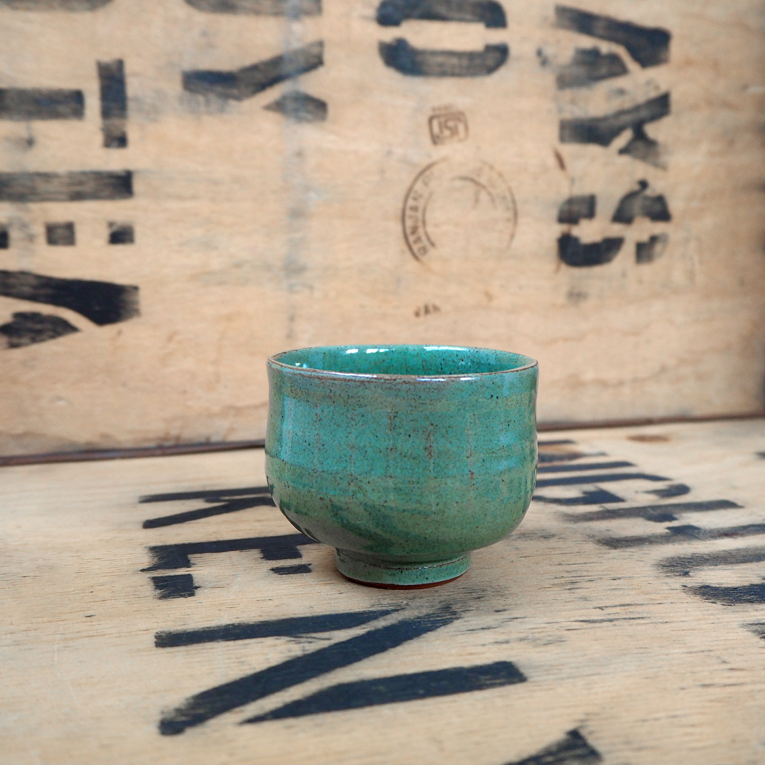 Green Teabowl By Anja Graefe