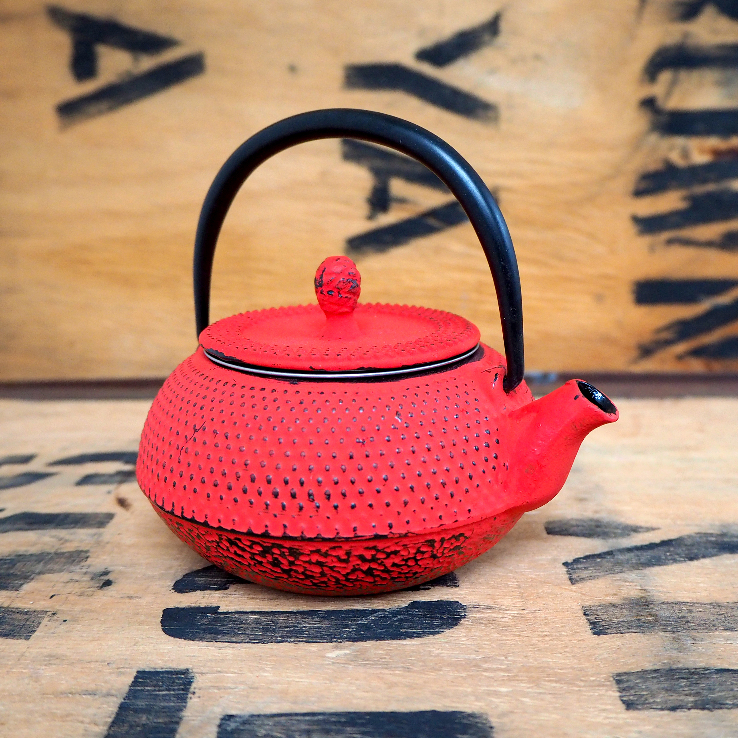 Cast Iron Teapot ~ Red, 300ml